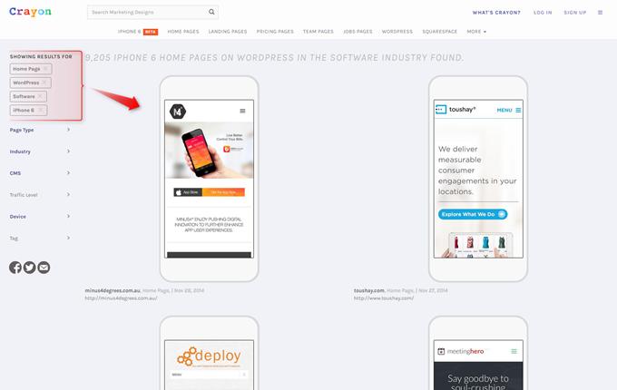 Wordpressで作成されたソフトウエア会社のiPhone6のホームページ