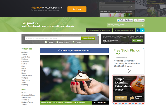 picjumbo — totally free photos for your commercial personal works