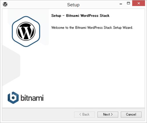 Bitnamiのセットアップ画面