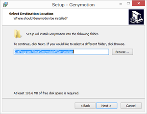 Genymotionのインストール2