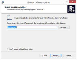 Genymotionのインストール3