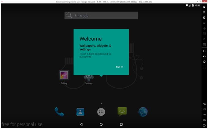 Google Nexusの起動画面