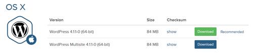 OS X版Bitnamiのダウンロード