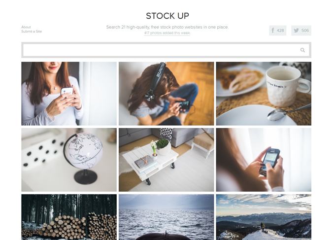 Stock Up- Free stock photo search.