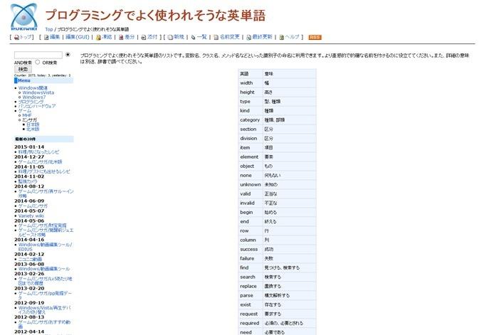 プログラミングでよく使われそうな英単語 - Variety wiki