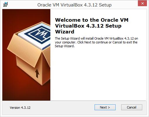 VertualBoxのインストール1