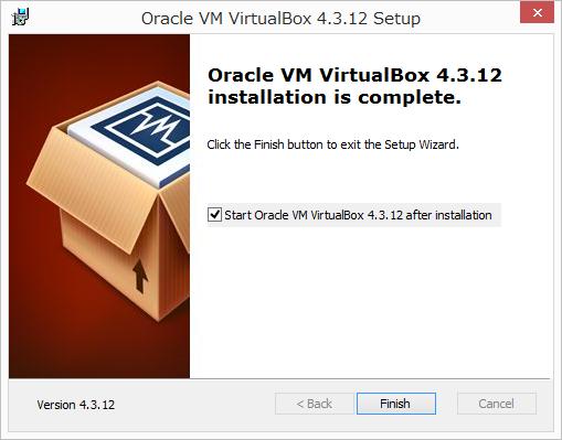 VertualBoxのインストール6