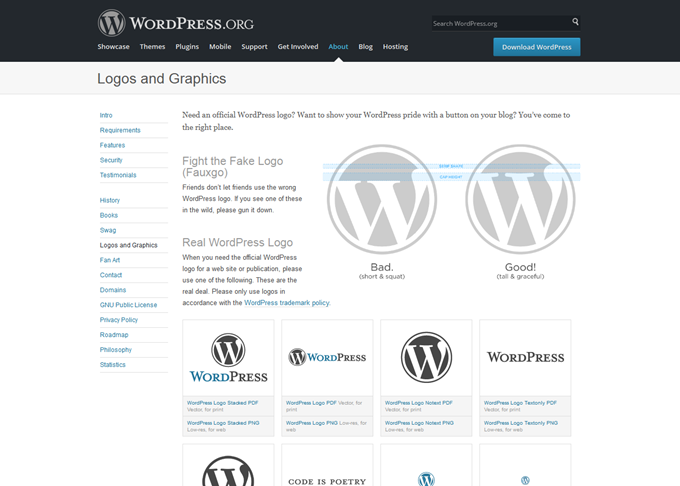 WordPress › About » Logos and Graphics