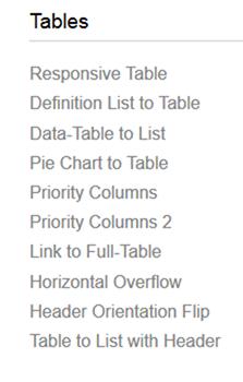レスポンシブのテーブルパターン