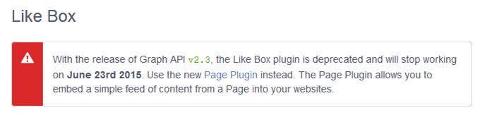 2015年6月23日からFacebook Lightboxが利用不能に