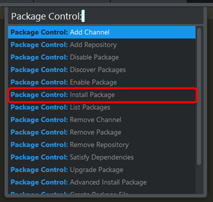 Package Controlのインストール