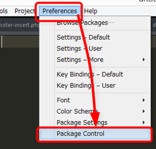Preferences→Package Control
