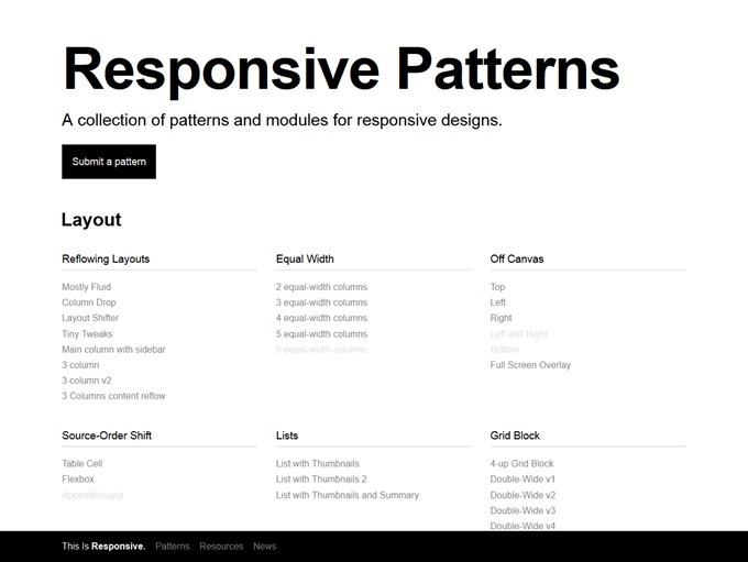 Responsive Web Design Patterns This Is Responsive