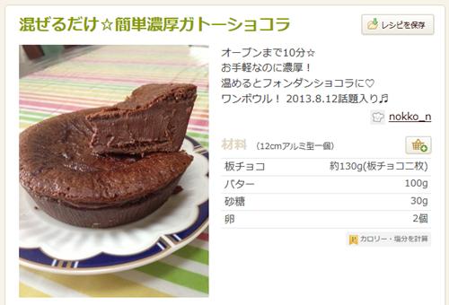 混ぜるだけ☆簡単濃厚ガトーショコラ