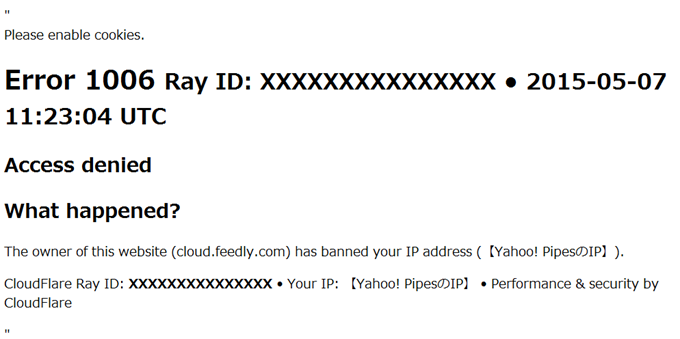 Access denied  cloud.feedly.com used CloudFlare to restrict access
