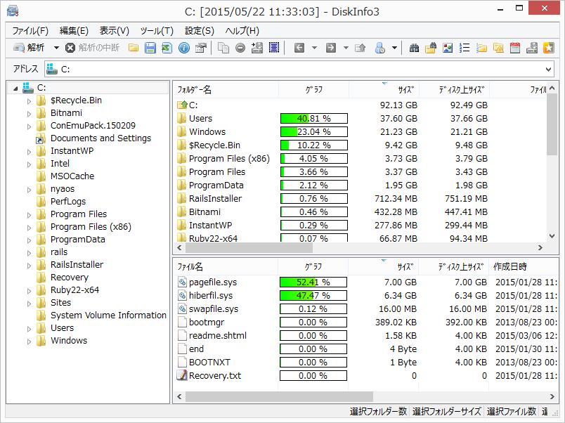 HDD容量をやたら圧迫するファイルを手軽に見つけて削除する ...