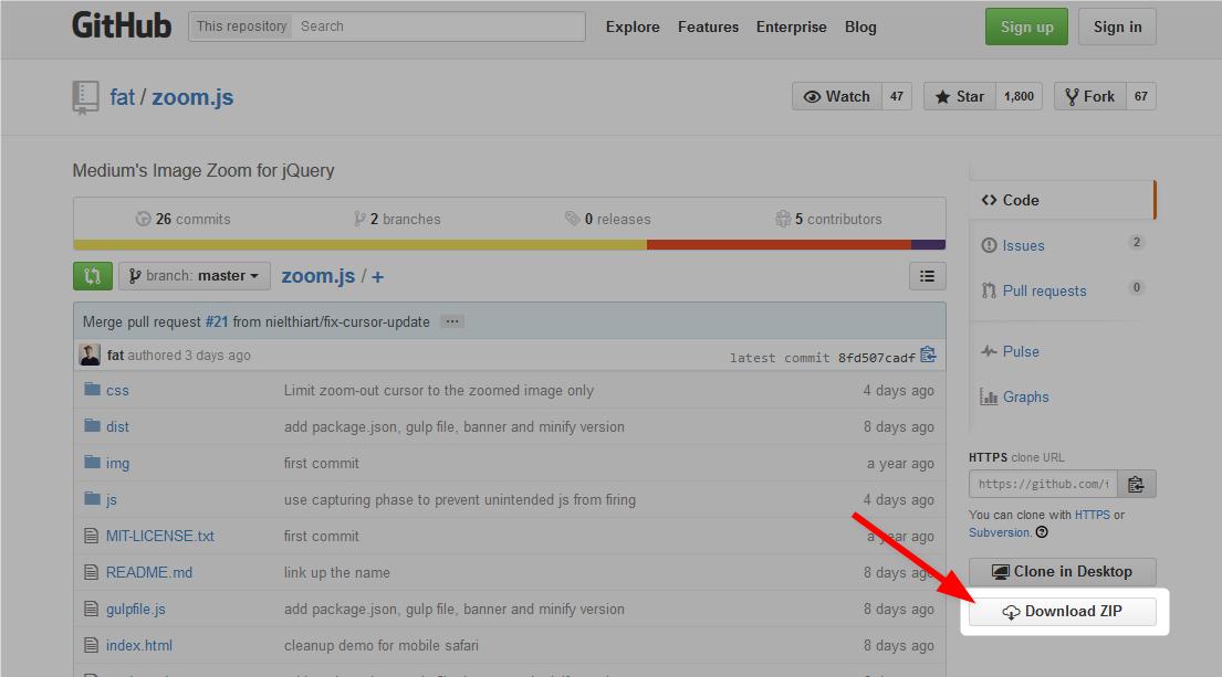 Zoom.jsファイルのダウンロード