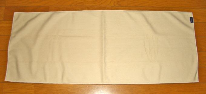 吸水タオルを広げた状態