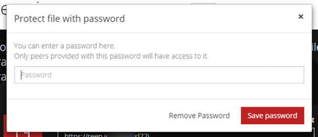 パスワードも設定できる
