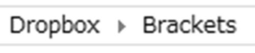 Dropboxフォルダ直下にBracketsフォルダを作成する