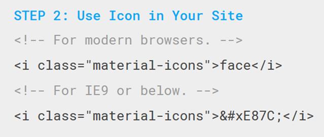 表示されるMaterial iconsの利用タグ