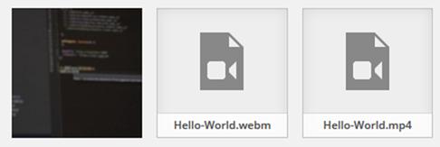 WordpressにアップロードしたCoverr動画ファイルの状態