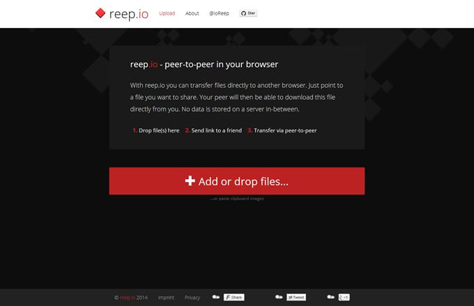 reep.io  peer-to-peer filesharing made easy