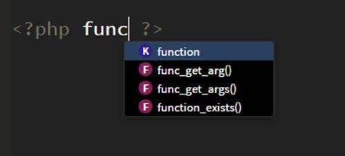 関数やテンプレートタグのコードヒント
