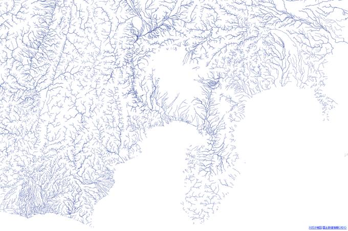 川だけ地図(富士山周辺)