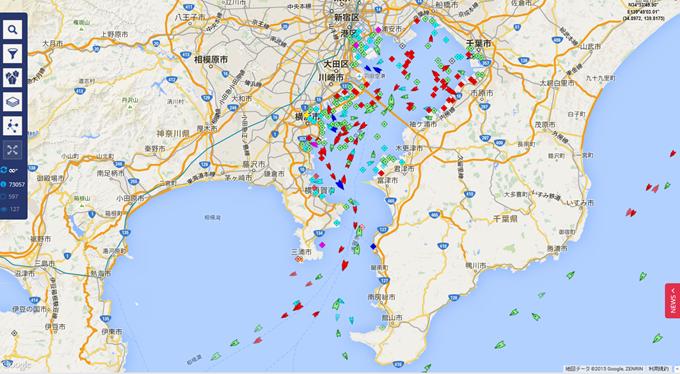 ライブ船舶マップ