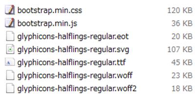 Bootstrapでサーバーにアップするファイル