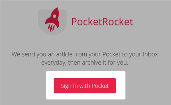 Pocketでサインインする