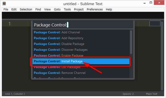 Sublime Textでパッケージのインストール