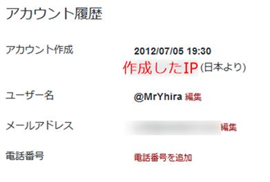 Twitterデータ(アカウント履歴)
