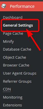 W3 Total Cacheのジェネラルセッティング