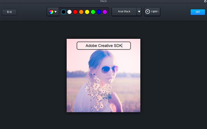 Adobeエディターで文字を挿入