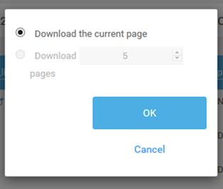CSVファイルのダウンロード