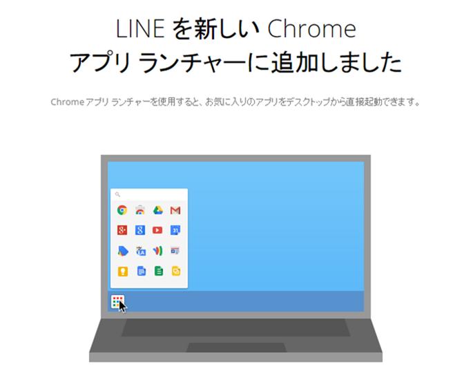 Chrome版LINEアプリのインストール完了