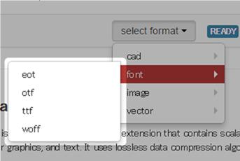 CloudConvertのフォント形式