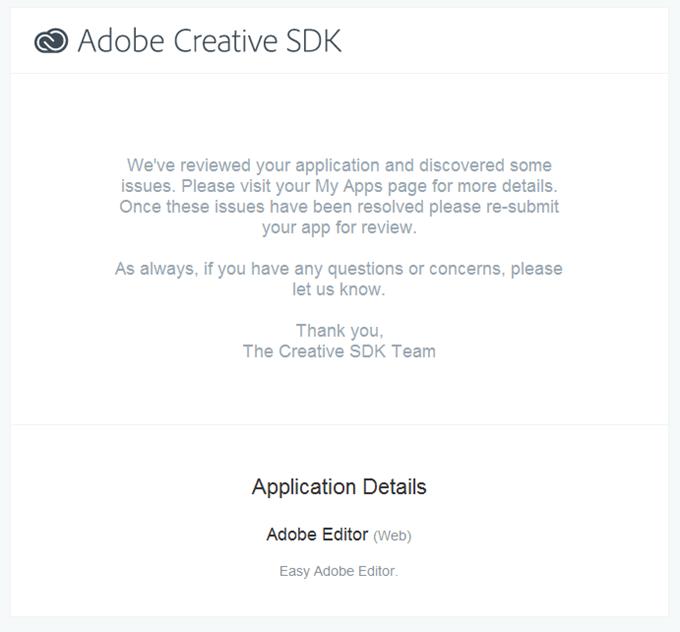 Creative SDK のレビュー結果