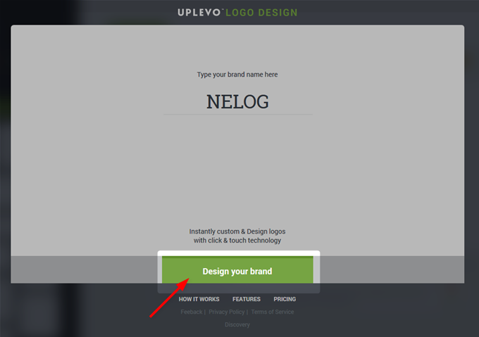 「Design yout brand」をクリック