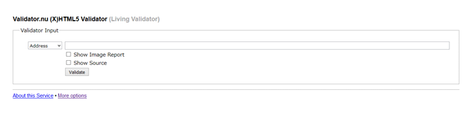 Validator.nu (X)HTML5 Validator (Living Validator)
