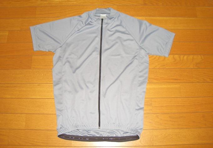 半袖サイクルジャージグレー