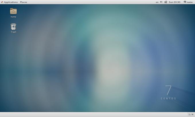 CentOSのデスクトップ