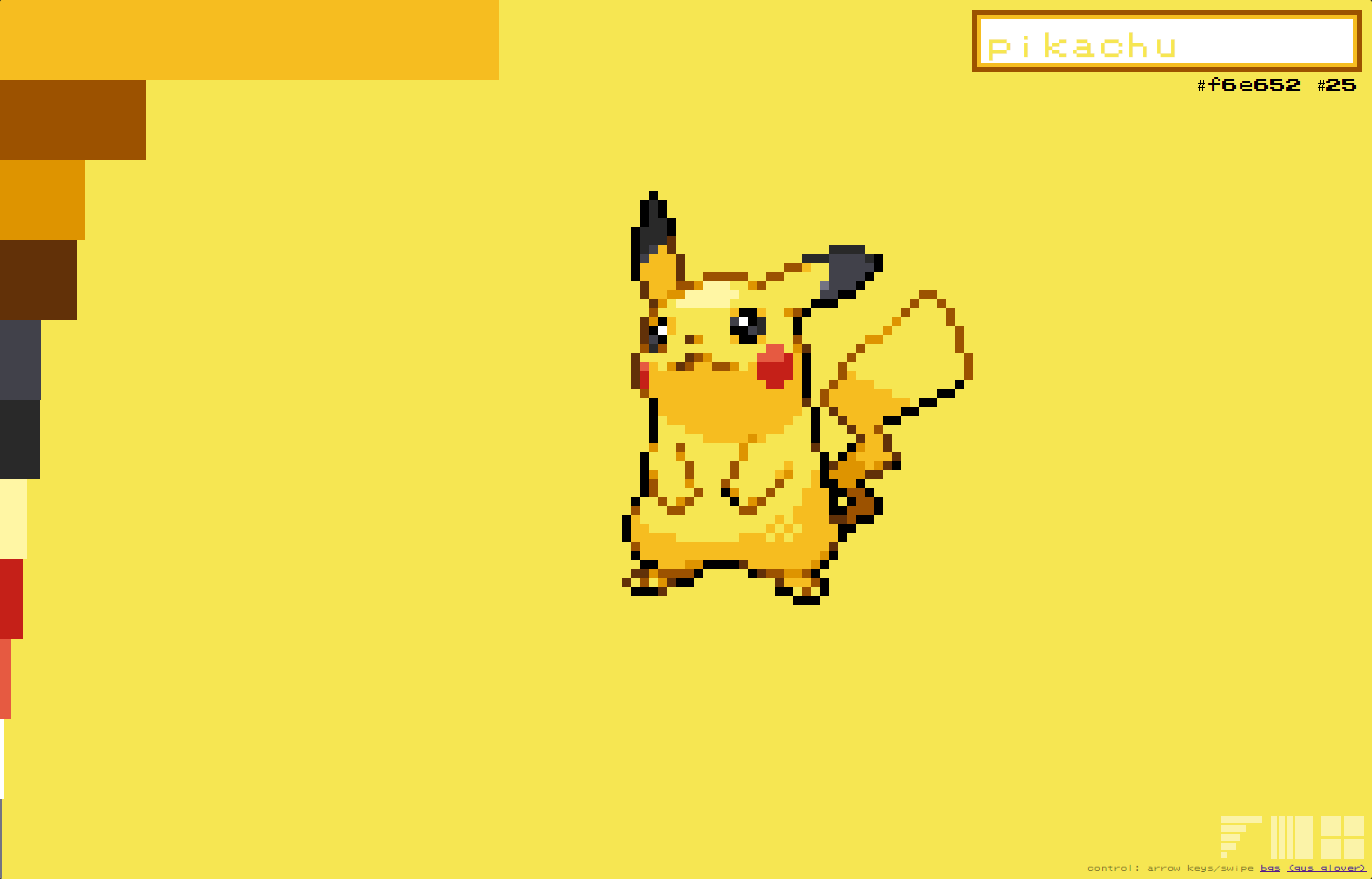 ポケモンのモンスター色のカラーパレットが手に入る「pokemon palettes」