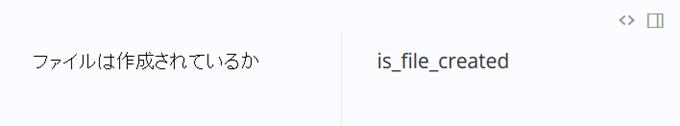「ファイルは作成されているか」という名前を生成