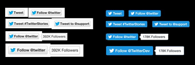 新しいTwitterボタン