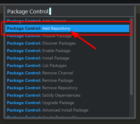 Package Controlからリポジトリの追加