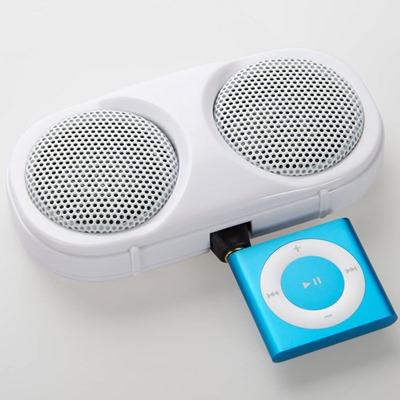 ヤザワ プラグインスピーカーをポータブル音楽プレーヤーで使用