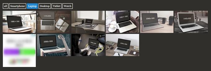 MockDropでノートパソコンを表示